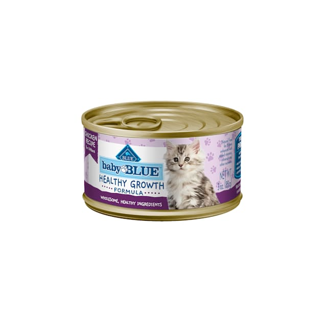 Blue Buffalo Baby Blue Healthy Growth Formula Natural Chicken Recipe Kitten Pate Wet Food, 3 oz., Case of 24 - Carousel image #1