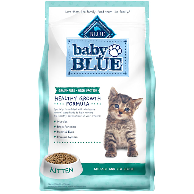 Blue Buffalo Baby Blue Healthy Growth Formula Natural Grain Free Chicken and Pea Recipe Kitten Dry Food, 4.5 lbs. - Carousel image #1