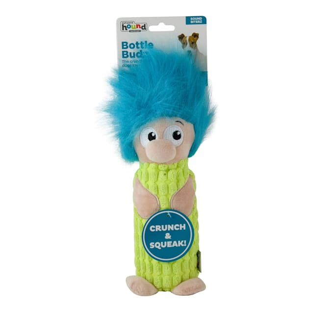 Outward Hound Bottle Budz Gnome Green Dog Toys, Small - Carousel image #1