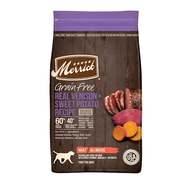 Merrick Grain Free Real Venison & Sweet Potato Recipe Dry Dog Food, 22 lbs. - Carousel image #1