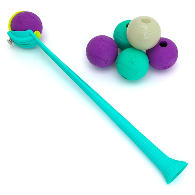 "Chew King 6 Balls with Ball Launcher Combo Dog Toy, Medium with 2.5"" Ball - Carousel image #1"