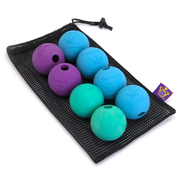 Chew King Rubber Ball Value Pack Dog Toy, Medium - Carousel image #1