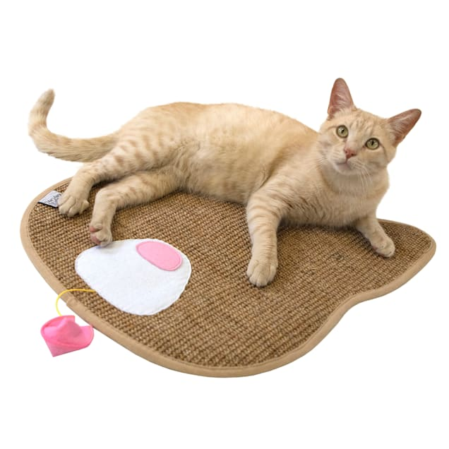 Kitty City Crazy Sisal Scratch Pad for Cats, Large - Carousel image #1
