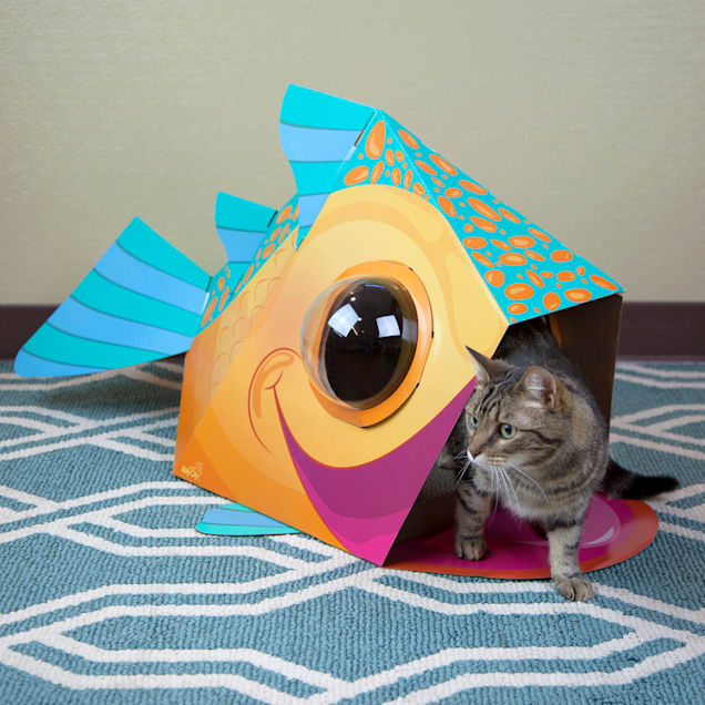 """Kitty City Dome Fish Scratcher for Cats, 18.5"""" H - Carousel image #1"""