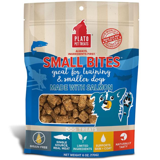 Plato Pet Grain Free Small Bites Made with Salmon Dog Treats, 6 oz. - Carousel image #1