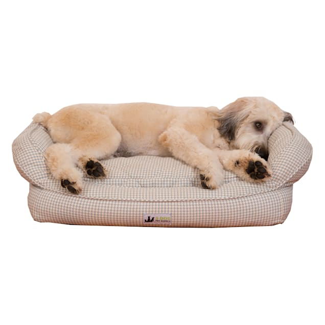 "3 Dog Personalized EZ Wash Premium Memory Foam Bolster Dog Bed, 32"" L X 21"" W X 9"" H - Carousel image #1"