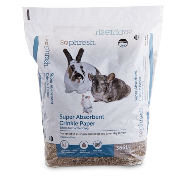 So Phresh Super-Absorbent Recycled Crinkle Paper Small Animal Bedding, 60 Liters - Carousel image #1