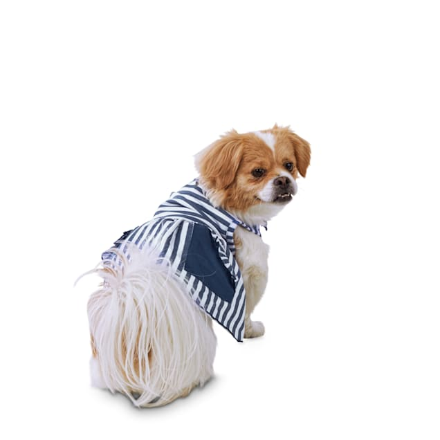 Bond & Co. Sea Of Stripes Nautical Dog Dress, Medium - Carousel image #1