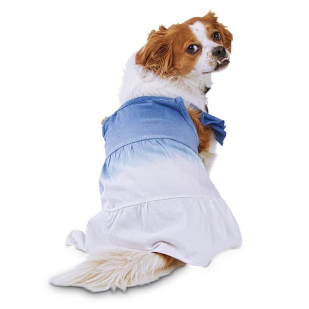 Bond & Co. Blue Dip-Dye Dog Dress, Large - Carousel image #1
