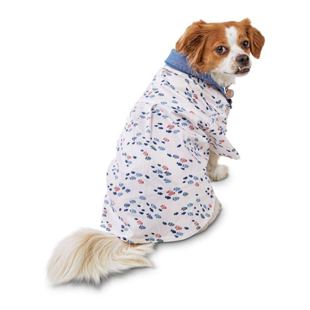 Bond & Co. Nice Catch Nautical Dog Shirt, Small - Carousel image #1