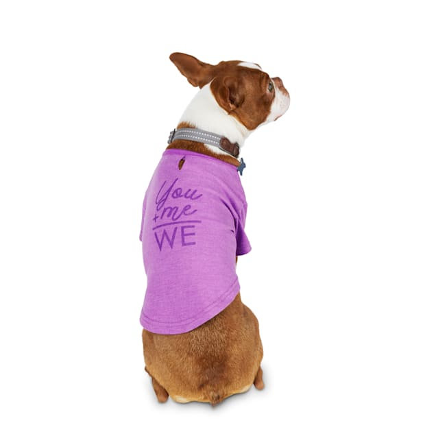 Reddy Purple You & Me Jersey Crewneck Dog T-Shirt, X-Small - Carousel image #1