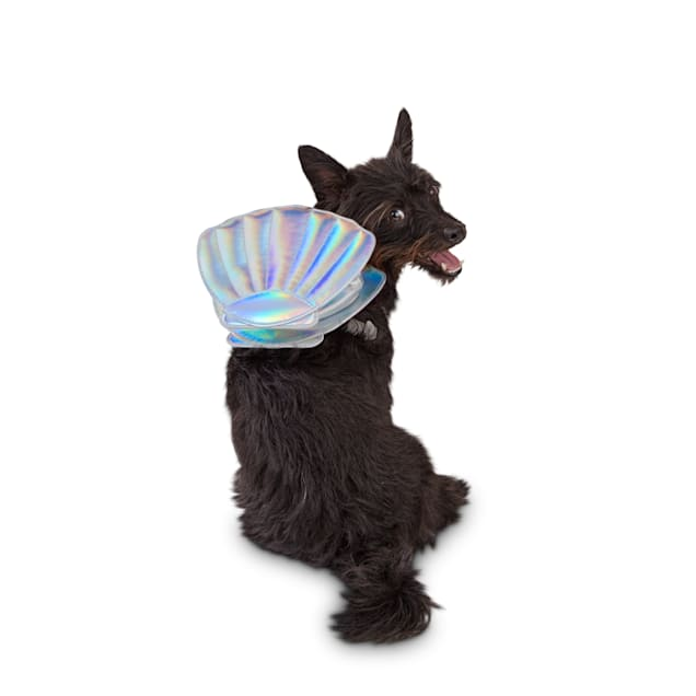 Bond & Co. Shore To Shine Holographic Mermaid Dog Backpack, X-Small/Small - Carousel image #1