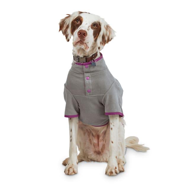 Reddy Grey Stretch Fleece Dog Jacket, X-Small - Carousel image #1