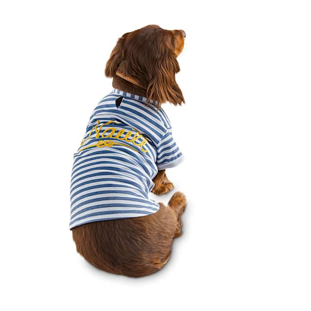 Bond & Co. Feeling Nauti Striped Nautical Dog T-Shirt, Medium - Carousel image #1