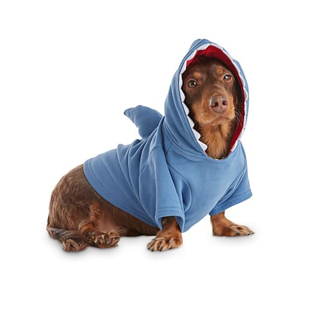 Bond & Co. Looking Sharp Shark Dog Hoodie, X-Small - Carousel image #1