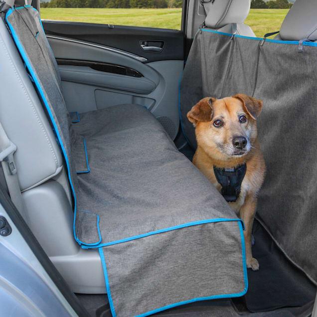 Kurgo Heather Coast to Coast Grey & Coastal Blue Hammock for Dog - Carousel image #1