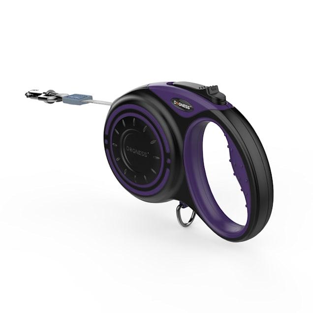 Dogness Smart Retractable Purple Leash, 10' L - Carousel image #1