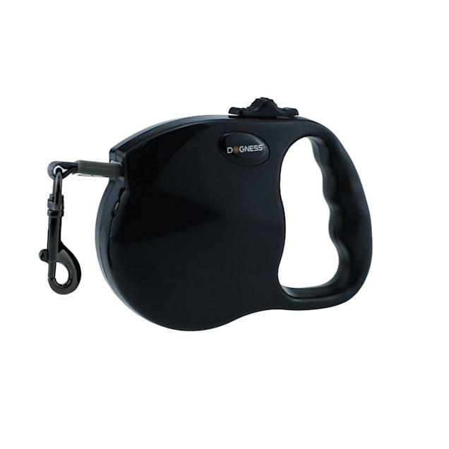 Dogness Fashion Retractable Black Leash, 10' L - Carousel image #1
