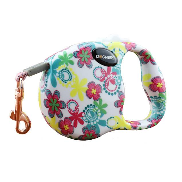 Dogness Fashion Retractable Flower Leash, 10' L - Carousel image #1