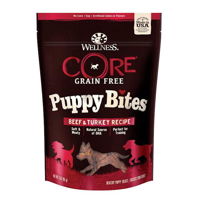 Wellness Core Grain Free Puppy Bites Beef & Turkey Recipe Soft & Chewy Treats, 3 oz., Bag - Carousel image #1