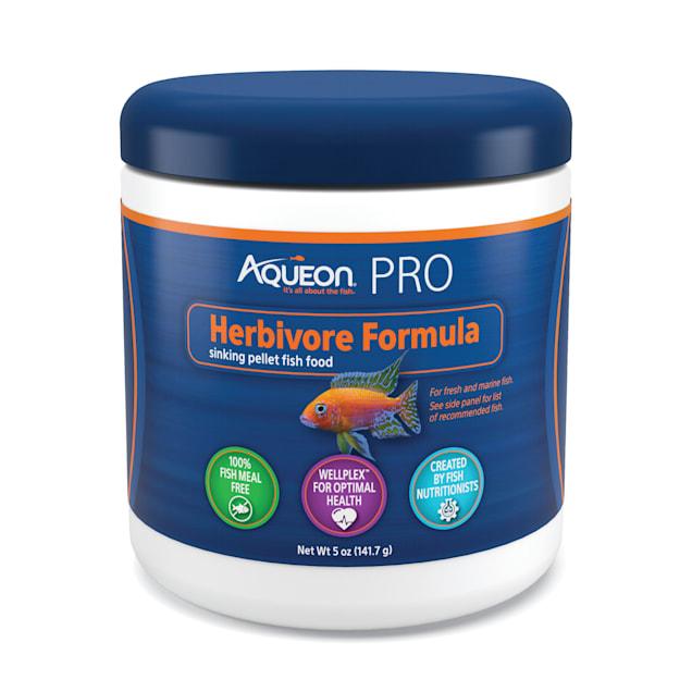 Aqueon Pro Herbivore Formula Fish Food Pellet, 5 oz. - Carousel image #1