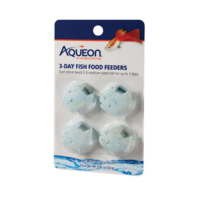 Aqueon 3-Day Fish Food Feeder, 0.85 oz., Pack of 4 - Carousel image #1