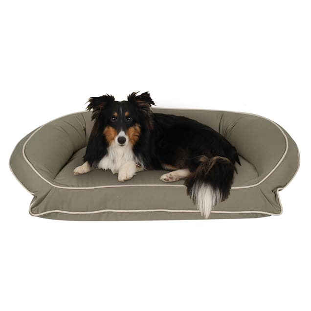 "Carolina Pet Company Classic Canvas Memory Foam Bolster Dog Bed, 27"" L X 36"" W - Carousel image #1"