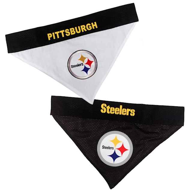 Pets First Pittsburgh Steelers Reversible Pet Bandana, Small/Medium - Carousel image #1