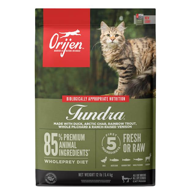 ORIJEN Grain Free Tundra Premium High Protein Fresh & Raw Animal Ingredients Dry Cat Food, 12 lbs. - Carousel image #1