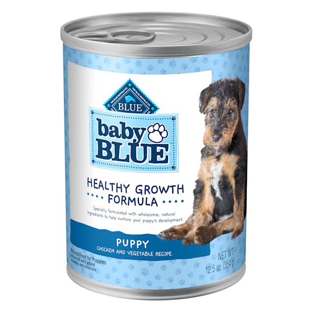 Blue Buffalo Baby Blue Natural Chicken and Vegetable Recipe Wet Puppy Food, 12.5 oz., Case of 12 - Carousel image #1