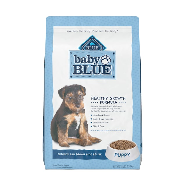 Blue Buffalo Baby Blue Natural Chicken and Brown Rice Recipe Dry Puppy Food, 24 lbs. - Carousel image #1