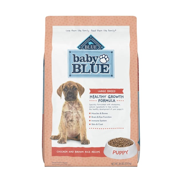 Blue Buffalo Baby Blue Natural Large Breed Chicken and Brown Rice Recipe Dry Puppy Food, 24 lbs. - Carousel image #1