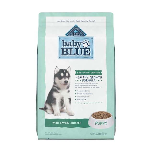 Blue Buffalo Baby Blue Grain Free High Protein Natural Chicken and Pea Recipe Dry Puppy Food, 20 lbs. - Carousel image #1