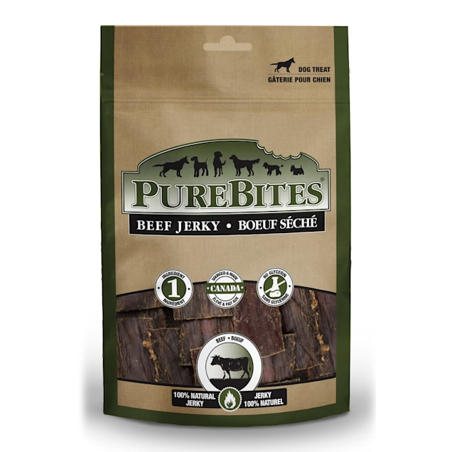PureBites Beef Jerky Dog Treats, 7.5 oz. - Carousel image #1