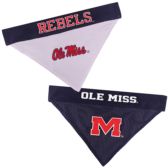 Pets First Ole Miss Reversible Bandana for Dogs, Small/Medium - Carousel image #1