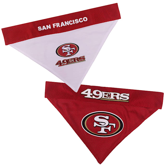 Pets First San Francisco 49Ers Reversible Bandana for Dogs, Small/Medium - Carousel image #1
