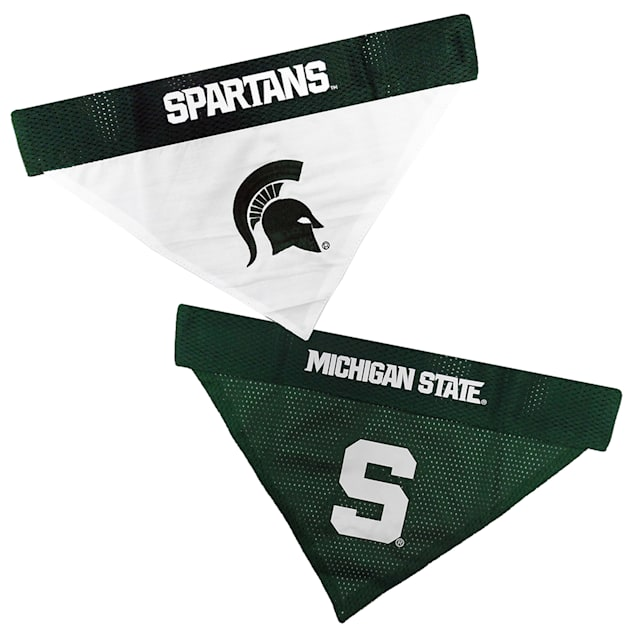Pets First Michigan State Reversible Bandana for Dogs, Small/Medium - Carousel image #1