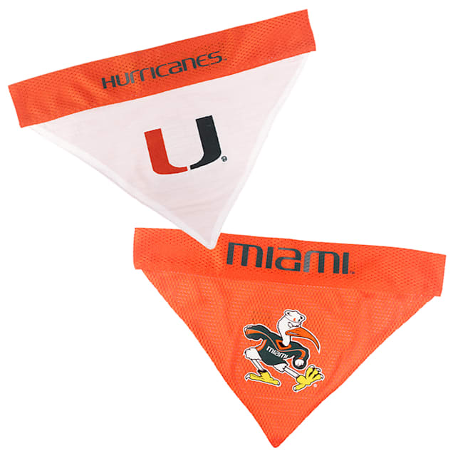 Pets First U Of Miami Reversible Bandana for Dogs, Small/Medium - Carousel image #1