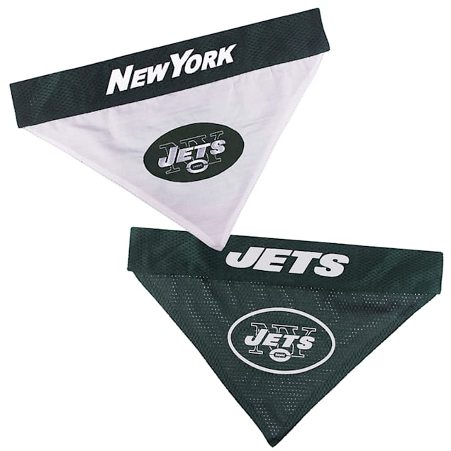 Pets First New York Jets Reversible Bandana for Dogs, Small/Medium - Carousel image #1
