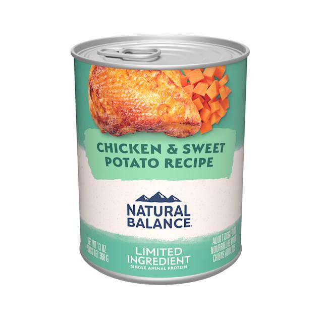 Natural Balance L.I.D. Limited Ingredient Diets Chicken & Sweet Potato Formula Wet Dog Food, 13 oz., Case of 12 - Carousel image #1