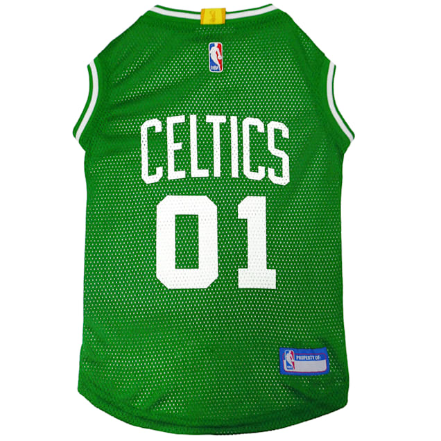 Pets First Boston Celtics Basketball Mesh Jersey for Dogs, X-Small - Carousel image #1