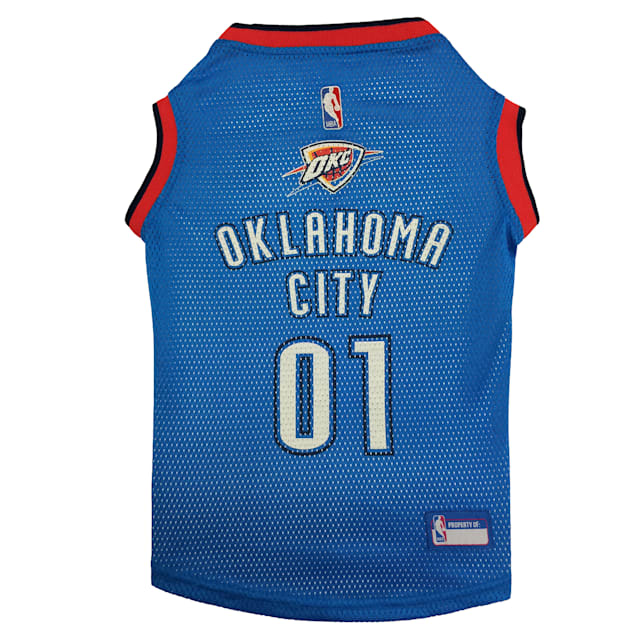 Pets First OKC Thunder Basketball Mesh Jersey for Dogs, X-Large - Carousel image #1