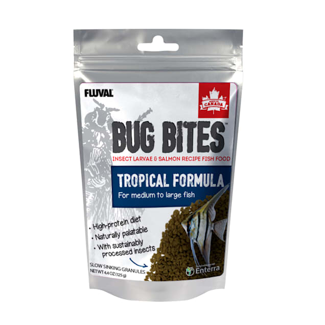 Fluval Bug Bites Tropical Fish Large Granules, 4.4 oz. - Carousel image #1