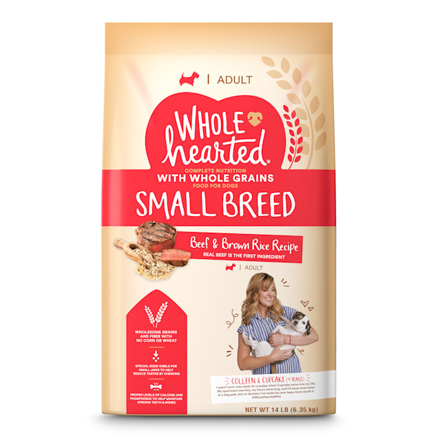 WholeHearted Adult Small-Breed Beef & Brown Rice Recipe with Whole Grains Dry Dog Food, 14 lbs. - Carousel image #1
