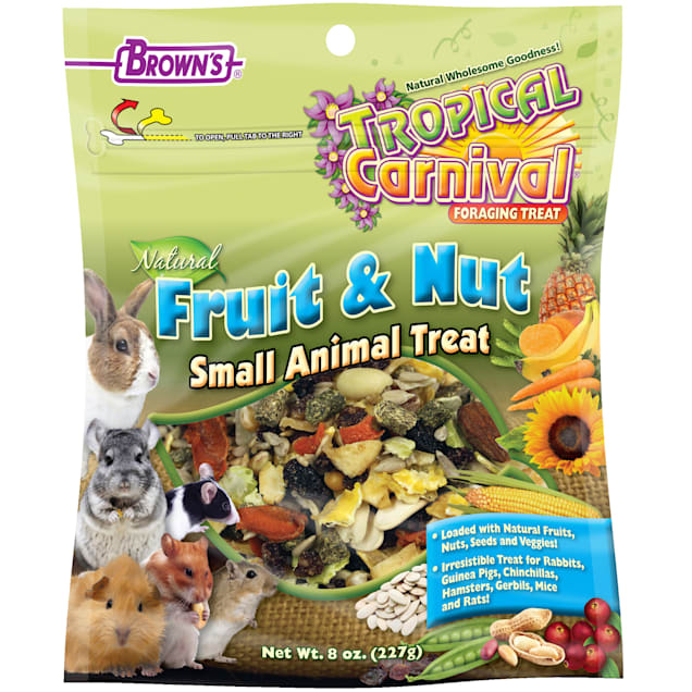 Brown's Tropical Carnival Natural Fruit & Nut Small Animal Treat, 8 oz. - Carousel image #1