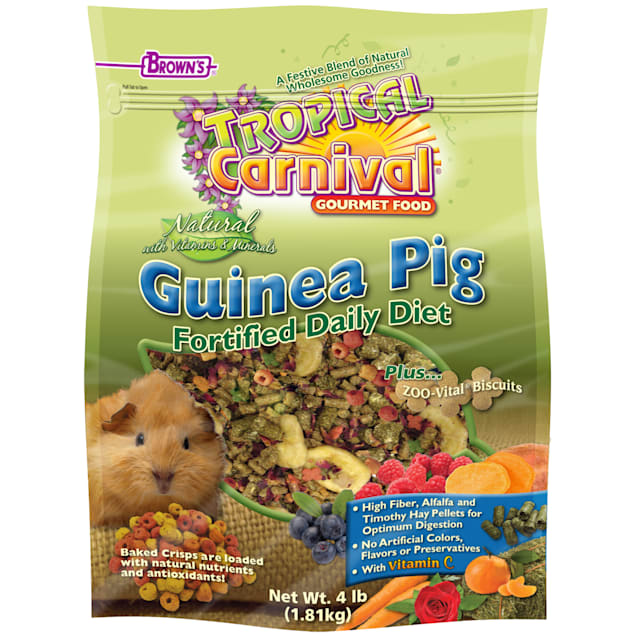 Brown's Tropical Carnival Natural Guinea Pig Fortified Daily Diet Food, 4 lbs. - Carousel image #1