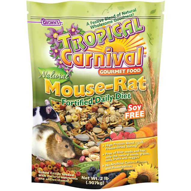 Brown's Tropical Carnival Natural Mouse & Rat Fortified Daily Diet Food, 2 lbs. - Carousel image #1