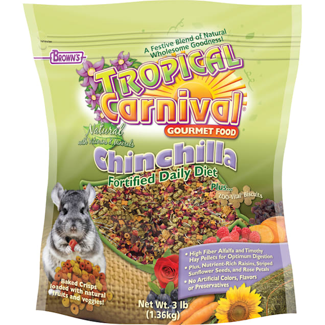 Brown's Tropical Carnival Natural Chinchilla Fortified Daily Diet Food, 3 lbs. - Carousel image #1