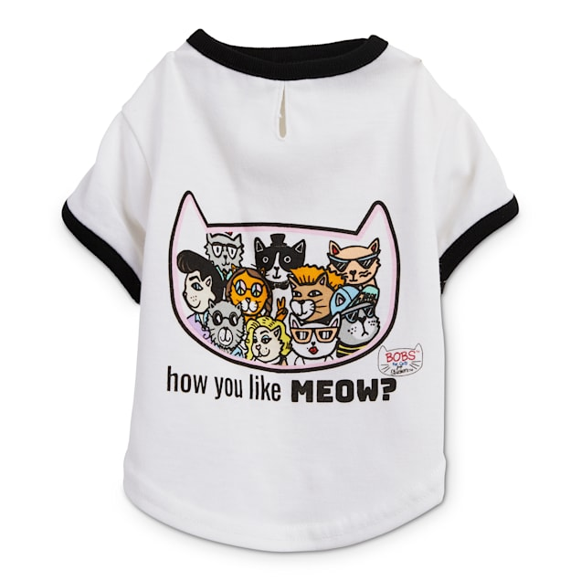 BOBS from Skechers Cats of Ages Cat T-Shirt, X-Small - Carousel image #1