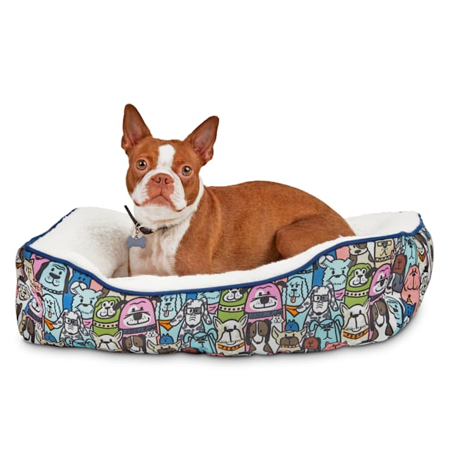 "BOBS from Skechers Doggie Crowd Dog Bed, 24"" L X 18"" W - Carousel image #1"